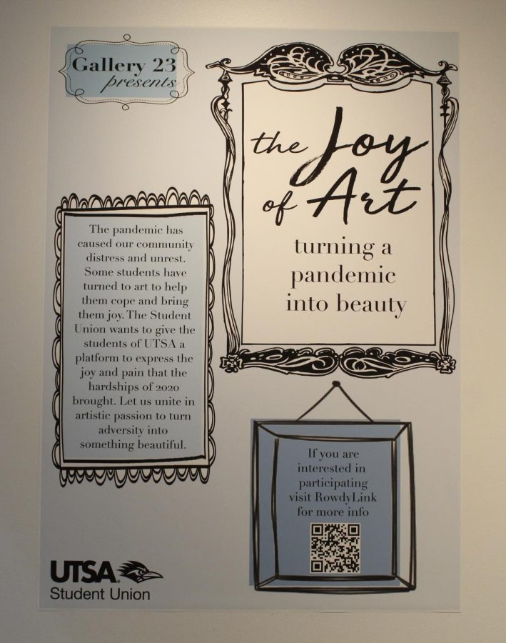 UTSA Gallery 23 hosts student exhibition: 'The Joy of Art: Turning a pandemic into beauty'
