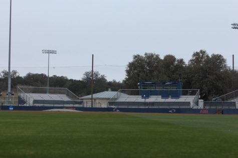 Roadrunner Field sits empty before a softball game on Mar. 26.  It will remain this way for the duration of both the baseball and softball seasons due to COVID protocols.