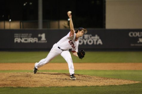 Fischer Kingsbery throws a pitch during Thursday night