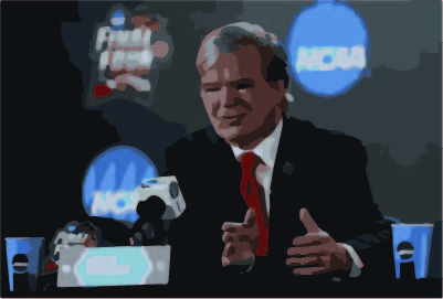 Mark Emmert became the acting president of the NCAA in 2010.  Emmert previously served as the president of the University of Washington from 2004-2010.