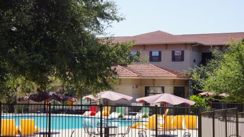 Chaparral Village is one of two dorms that offers a pool to its residents. Bella Nieto/The Paisano